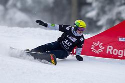 Tim Mastnak (SLO) during Final Run at Parallel Giant Slalom at FIS Snowboard World Cup Rogla 2019, on January 19, 2019 at Course Jasa, Rogla, Slovenia. Photo byJurij Vodusek / Sportida