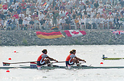 St Catherines, CANADA,  Women's Duble Sculls NED W2X Pieta van DISHOECK , Eeke van NES, competing at the 1999 World Rowing Championships - Martindale Pond, Ontario. 08.1999..[Mandatory Credit; Peter Spurrier/Intersport-images]  .. 1999 FISA. World Rowing Championships, St Catherines, CANADA
