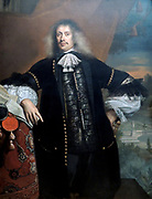 Hieronymus van Beverningk by Jan de Baen (1633-1702) oil on canvas, 1670  This seems like a princely portrait.  Yet Hieronymus van Beverningk was only an ambassador of the States-General of the Netherlands.  He had played a successful role in peace conferences, symbolized by the official documents and seals on the table.  The splendidly carved frame underscores the dignity of the sitter, whose motto in the cartouche at the bottom translates as: Seek thyself, not outside thyself.