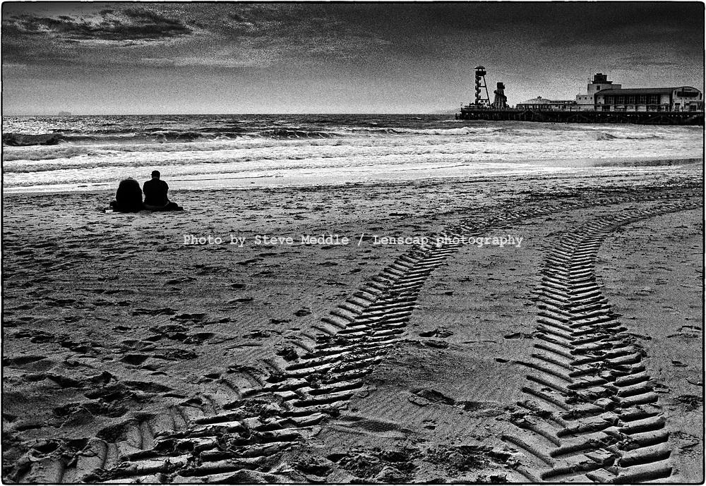 Bournemouth Beach, Dorset, England - August 2020