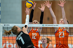 Britt Bongaerts of Netherlands, Eline Timmerman of Netherlands in action during the Women's friendly match between Netherlands and Belgium at Sporthal De Basis on may 19, 2021 in Sliedrecht, Netherlands (Photo by RHF Agency/Ronald Hoogendoorn)
