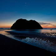 Sunset over tropical beach in ElNido, Palawan, Philippines