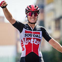 KOPECKY Lotte ( BEL ) – LOTTO SOUDAL LADIES ( LSL ) - BEL – Querformat - quer - horizontal - Landscape - Event/Veranstaltung: Giro Rosa Iccrea - 7. Stage - Category/Kategorie: Cycling - Road Cycling - Cycling Tour - Elite Women - Location/Ort: Europe – Italy - Start: Nola - Finish: Maddaloni - Discipline: Cycling - Road Cycling - Cycling Tour - Road Race ( RR ) - Distance: 112,5 km - Date/Datum: 17.09.2020 – Thursday - Photographer: © Arne Mill - frontalvision.com