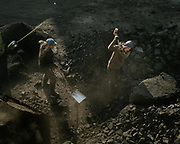 Raw coal of poor quality, coming from illegal mines, is sold on the streets of Ulan Bator in the Tsaiz Zakh market.<br /> Mongolia