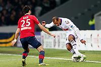 FOOTBALL - FRENCH LEAGUE CUP 2012/2013 - 1/8 FINAL - LILLE OSC v TOULOUSE FC - 30/10/2012 - PHOTO CHRISTOPHE ELISE / DPPI - DANIEL BRAATEN (TOULOUSE FC), MARKO BASA (LOSC)