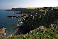 Walking on the cliffs in North Cornwall