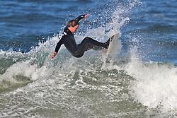 Hard cut, California surfer slices  it up in Morro Bay California