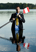 10/07/08-Victoria– Rower Douglas Vandor poses for a photo at Elk Lake where he is preparing to represent Canada in Beijing, China at the 2008 Sumer Olympics. Photo by Arnold Lim for the Canadian Press
