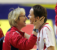 05.12.2008 Ohrid(FYR Macedonia)<br />Ukraine-Norway European women's handball championship<br />Breivik Marit(L)Norway head coach with Lunde Kristine(R) <br />Foto:Aleksandar Djorovic
