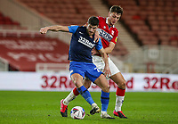 Preston North End's Ched Evans shields the ball from Middlesbrough's Dael Fry<br /> <br /> Photographer Alex Dodd/CameraSport<br /> <br /> The EFL Sky Bet Championship - Middlesbrough v Preston North End - Tuesday 16th March 2021 - Riverside Stadium - Middlesbrough<br /> <br /> World Copyright © 2021 CameraSport. All rights reserved. 43 Linden Ave. Countesthorpe. Leicester. England. LE8 5PG - Tel: +44 (0) 116 277 4147 - admin@camerasport.com - www.camerasport.com