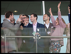 March 13, 2019 - Cheltenham, United Kingdom - Image licensed to i-Images Picture Agency. 13/03/2019. Cheltenham , United Kingdom. Tennis player Andy Murray (left) and his wife Kim Sears (right) celebrate after watching the main race during Ladies Day on the second day of the Cheltenham Festival  (Credit Image: © Stephen Lock/i-Images via ZUMA Press)