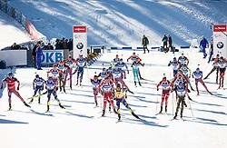 Start during Men 15 km Mass Start at day 4 of IBU Biathlon World Cup 2015/16 Pokljuka, on December 20, 2015 in Rudno polje, Pokljuka, Slovenia. Photo by Vid Ponikvar / Sportida