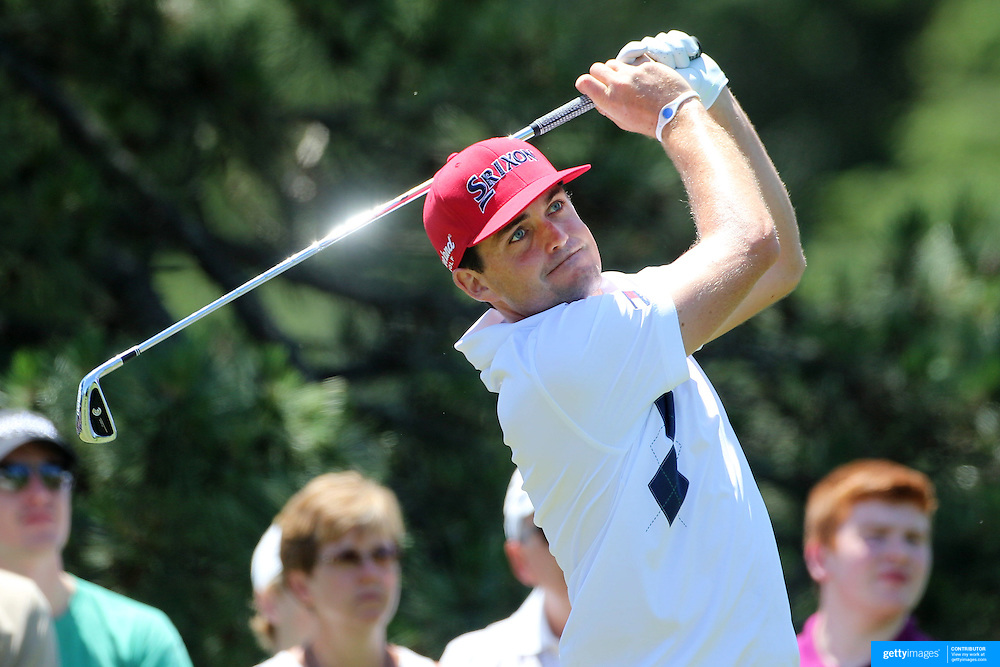 Keegan Bradley, USA, in action during the third round of the Travelers Championship at the TPC River Highlands, Cromwell, Connecticut, USA. 21st June 2014. Photo Tim Clayton