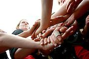 VWFL St Kilda Sharks, pre-match huddle