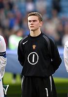 Fotball, 28. april 2004, Privatlandskamp, Norge-Russland 3-2, Igor Akinfeev, Russland, portrett