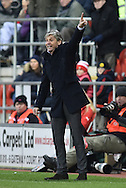 Jose Riga head coach of Charlton Athletic during the Sky Bet Championship match between Rotherham United and Charlton Athletic at the New York Stadium, Rotherham, England on 30 January 2016. Photo by Ian Lyall.