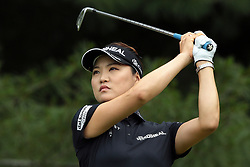 June 16, 2018 - Belmont, Michigan, United States - So Yeon Ryu of Korea tees off on the second tee during the third round of the Meijer LPGA Classic golf tournament at Blythefield Country Club in Belmont, MI, USA  Saturday, June 16, 2018. (Credit Image: © Jorge Lemus/NurPhoto via ZUMA Press)