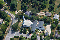 Aerial of Congregational Church, Old Lyme, CT