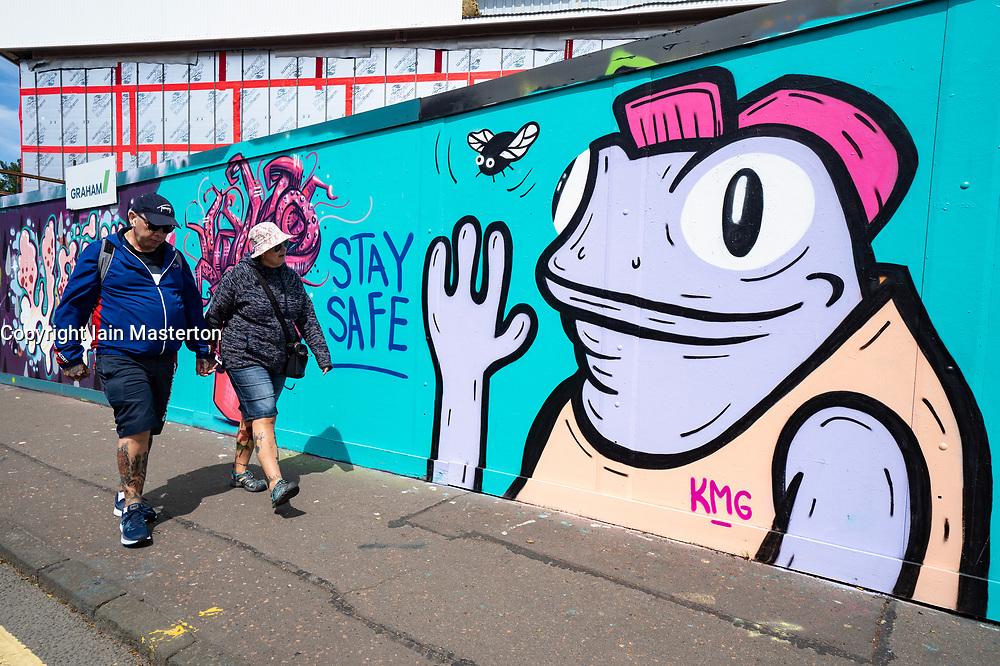 Edinburgh, Scotland, UK. 11 June 2020. Coronavirus themed graffiti has appeared on a street in Edinburgh. Iain Masterton/Alamy Live News