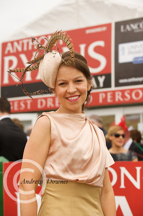 Patricia Carthy Claremorris finalist in the Anthony Ryan Best Dressed Lady Competition at the Galway Races. Photo:Andrew Downes...