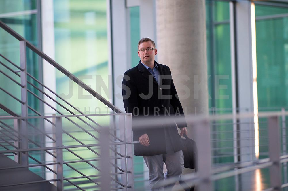 DEU, Deutschland, Germany, Berlin, 15.01.2018: Sebastian Münzenmaier (MdB, Alternative für Deutschland, AfD) vor Beginn der Fraktionssitzung der AfD-Fraktion im Deutschen Bundestag.