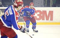 Ishockey Hokey<br /> GET - ligaen<br /> Jordal Amfi 29.12.12<br /> Vålerenga VIF - Storhamar<br /> Kick-off til jubileumssesongen 2013 med Vålerenga Idrettsforening<br /> Morten Ask<br /> Foto: Eirik Førde
