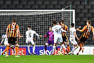 GOAL 1-3 Hull City forward James Scott (11)  during the EFL Sky Bet League 1 match between Milton Keynes Dons and Hull City at stadium:mk, Milton Keynes, England on 21 November 2020.