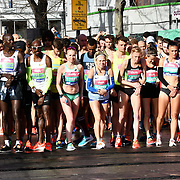 Mo Farah,Wilson Kipsang,Daniel Wanjuri,Dewi Griffiths ,Lily Partridge ,Charlotte Purdue ,Steph Twell ,David Weir CBE, Charlotte Arter and Andy Vernon at the elite race start men and women at The Vitality Big Half 2019 on 10 March 2019, London, UK.