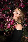 KELLY EASTWOOD, spotted at Bloom & Wild's exclusive event at 5 Hertford Street last night. 5 September 2017. The event was announcing the new partnership between the UK's most loved florist, Bloom & Wild and British floral design icon Nikki Tibbles Wild at Heart. Cocooned in swaths of vibrant Autumn blooms, guests enjoyed floral-inspired cocktails from Sipsmith and bubbles from Chandon, with canapés put on by 5 Hertford Street. Three limited edition bouquets from the partnership can be bought through Bloom & Wild's website from the 1st September.  bloomandwild.com/WAH