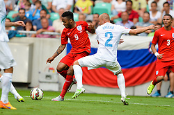 Raheem Sterling of England vs. Miso Brecko of Slovenia during the EURO 2016 Qualifier Group E match between Slovenia and England at SRC Stozice on June 14, 2015 in Ljubljana, Slovenia. Photo by Mario Horvat / Sportida