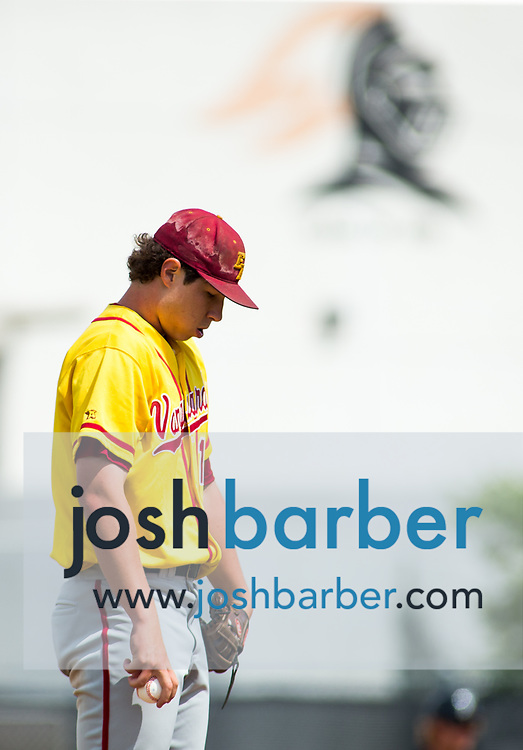 El Modena's Nick Hansen during a Crestview League game at Foothill High School on Friday, May 5, 2017 in North Tustin, Calif. Foothill won 4-2. (Photo by Josh Barber, Contributing Photographer)