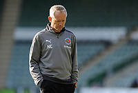 Blackpool manager Neil Critchley  looks dejected at the final whistle <br /> <br /> Photographer Ian Cook/CameraSport<br /> <br /> The EFL Sky Bet League One - Plymouth Argyle v Blackpool - Saturday September 12th 2020 - Home Park - Plymouth<br /> <br /> World Copyright © 2020 CameraSport. All rights reserved. 43 Linden Ave. Countesthorpe. Leicester. England. LE8 5PG - Tel: +44 (0) 116 277 4147 - admin@camerasport.com - www.camerasport.com