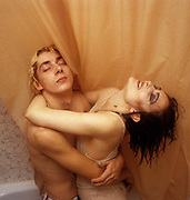 Siouxsie Sioux and Budgie Creatures bathroom photosession 1981