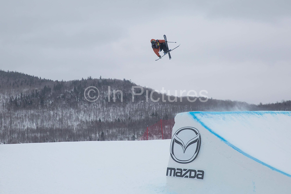 James Woods during the FIS Jamboree snowboard Slopestyle finals on 12th February 2017 in Stoneham Mountain, Canada. The Canadian Jamboree is part of the ski and snowboard FIS World Cup circuit held in Quebec City and Stoneham Mountain.