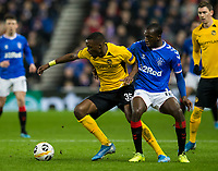 Football - 2019 / 2020 UEFA Europa League - Group G: Rangers vs. BSC Young Boys<br /> <br /> Glen Kamara of Rangers vies with Christopher Martins Pereira of Young Boys FC, at Ibrox Stadium.<br /> <br /> COLORSPORT/BRUCE WHITE