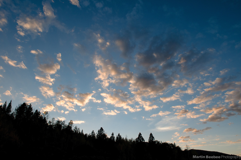 Sunset clouds, Toiyabe National Forest, California