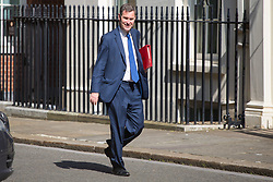 London, July 4th 2017. Secretary of State for Work and Pensions David Gauke attends the weekly cabinet meeting at 10 Downing Street in London.