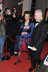HRH The PRINCESS ROYAL at the NatWest UK Fashion & Textile Awards in aid of Save The Children held at 1 Mayfair, London on 23rd May 2013.