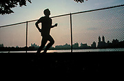 Jogging, Central Park Reservoir, Manhattan, New York