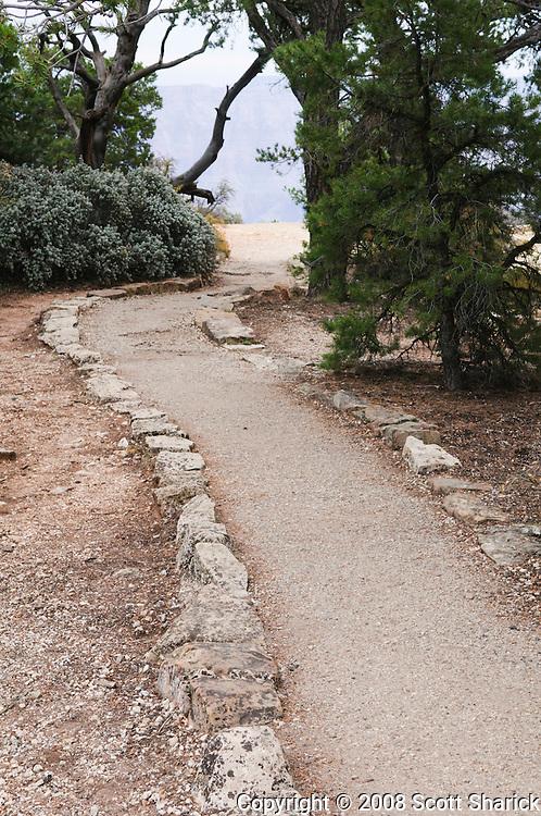 A dirt path along the North Rim of the Grand Canyon, Arizona Photo. Missoula Photographer