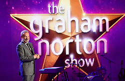 Host Graham Norton during filming of The Graham Norton Show at the London Studios in London, to be aired on BBC1 on Friday evening.
