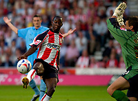 Photo: Alan Crowhurst.<br />Southampton v Coventry City. Coca Cola Championship. 09/08/2006. Bradley Wright-Phillips (C) goes close for Saints.