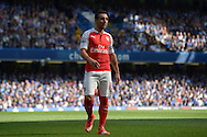 Santi Cazorla, of Arsenal looking on. Barclays Premier League match, Chelsea v Arsenal at Stamford Bridge in London on Saturday 19th September 2015.<br /> pic by John Patrick Fletcher, Andrew Orchard sports photography.