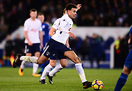 Dele Alli of Tottenham Hotspur in action .Premier league match, Leicester City v Tottenham Hotspur at the King Power Stadium in Leicester, Leicestershire on Tuesday 28th November 2017.<br /> pic by Bradley Collyer, Andrew Orchard sports photography.