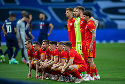 NICE, FRANCE - Wednesday, June 2, 2021: Wales players line-up for a team group photograph before an international friendly match between France and Wales at the Stade Allianz Riviera ahead of the UEFA Euro 2020 tournament. (Pic by Simone Arveda/Propaganda)