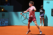 Andrey Rublev of Russia during the Mutua Madrid Open 2021, Masters 1000 tennis tournament on May 4, 2021 at La Caja Magica in Madrid, Spain - Photo Laurent Lairys / ProSportsImages / DPPI