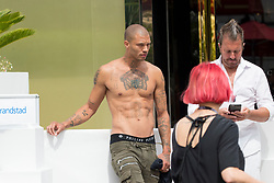 EXCLUSIVE: 'Hot Felon' Jeremy Meeks takes a shirtless stroll in Cannes, France, wearing a vest top. 22 May 2017 Pictured: Jeremy Meeks. Photo credit: ICONICAphoto/MEGA TheMegaAgency.com +1 888 505 6342