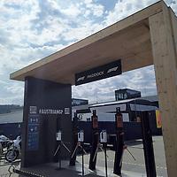 01.07.2020, Red Bull Ring , Spielberg, FORMULA 1 myWorld GROSSER PREIS VON ÖSTERREICH 2020, 03. - 05.07.2020 <br /> , im Bild<br />Eingangsbereich mit Drehkreuz und Desinfektionsspendern<br /> <br />   <br /> <br /> Foto © nordphoto / Bratic