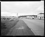 """Ackroyd 02068-01 """"H. A. Dryer Co. Views of West Slope district for Real Estate Publicity. March 10, 1950"""" """"Whistl'n Pig Coffee Shop and Business Center.on Canyon Road."""" (Today is the Caribe Club, 8640 SW Canyon Rd.)"""