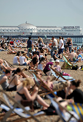 © licensed to London News Pictures. File picture dated 21/04/11.Brighton, UK. A view of Brighton Pier along BRighton Beach. Brighton Pier was today (29/06/2011) put up for sale. Owners the Noble Group, who took over the grade II* listed building in 1984, say they are ready for massive interest in the attraction. Photo credit should read Stephen Simpson/LNP